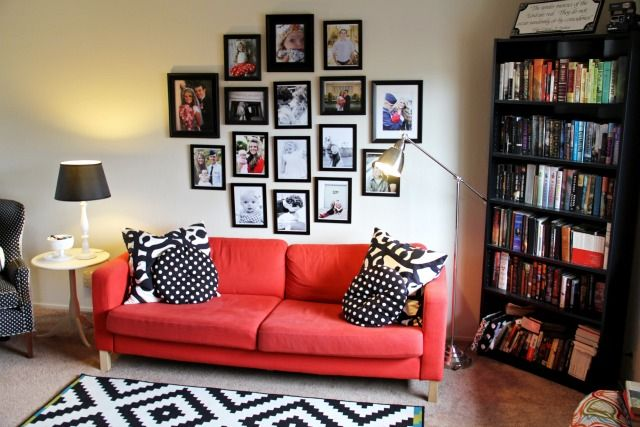 red, black, white DECO Pinterest Red black, Living rooms and