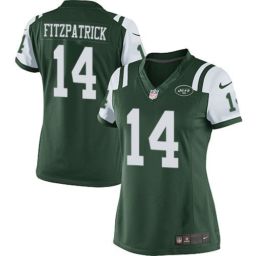 Nike Ryan Fitzpatrick Women's Green Limited Jersey: #14 NFL Home New York Jets