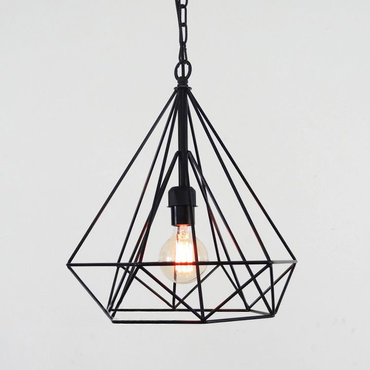 Details About Geometric Wire Cage Pendant Light Diamond Ceiling Pictures Gallery