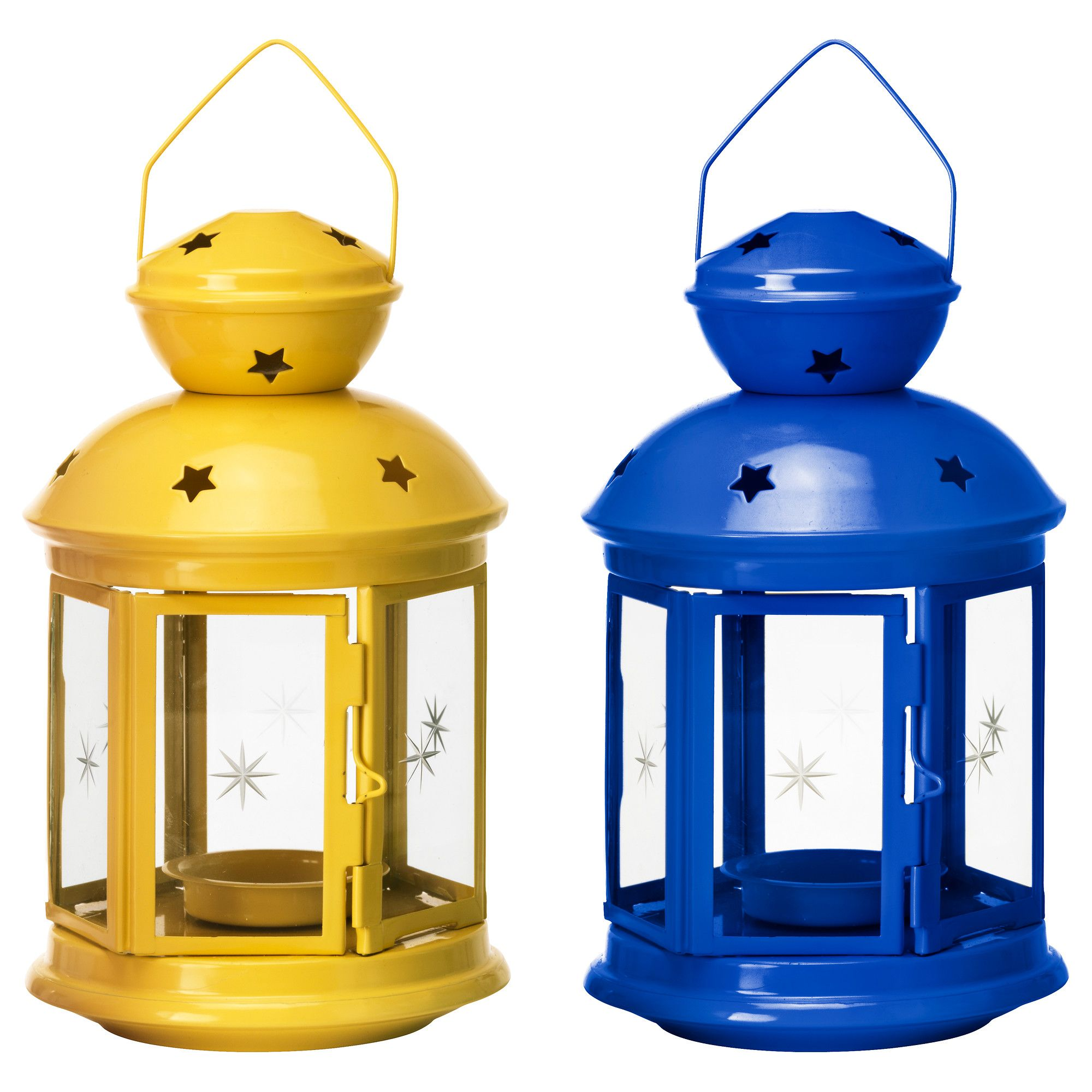 Ikea glass clear lanterns and