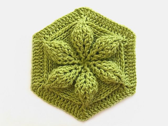 """To celebrate my newest book """"Learn Embossed Crochet"""" being #1 in sales at my publisher, Annies Catalog, I designed a special Embossed Crochet Hexagon motif to introduce you to this fun, knit-look technique that creates a deeper texture in the crocheted fabric than most cable crochet techniques."""