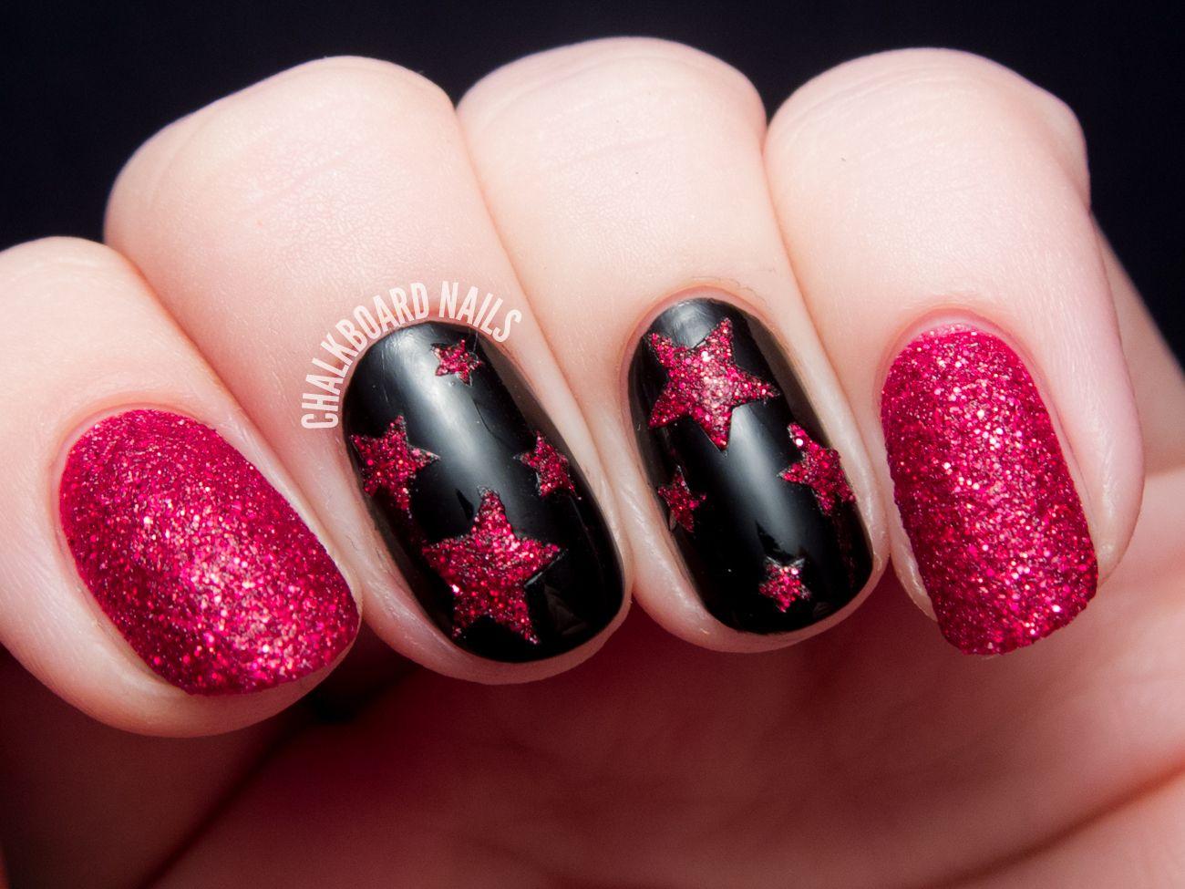 Textured Ruby Stars