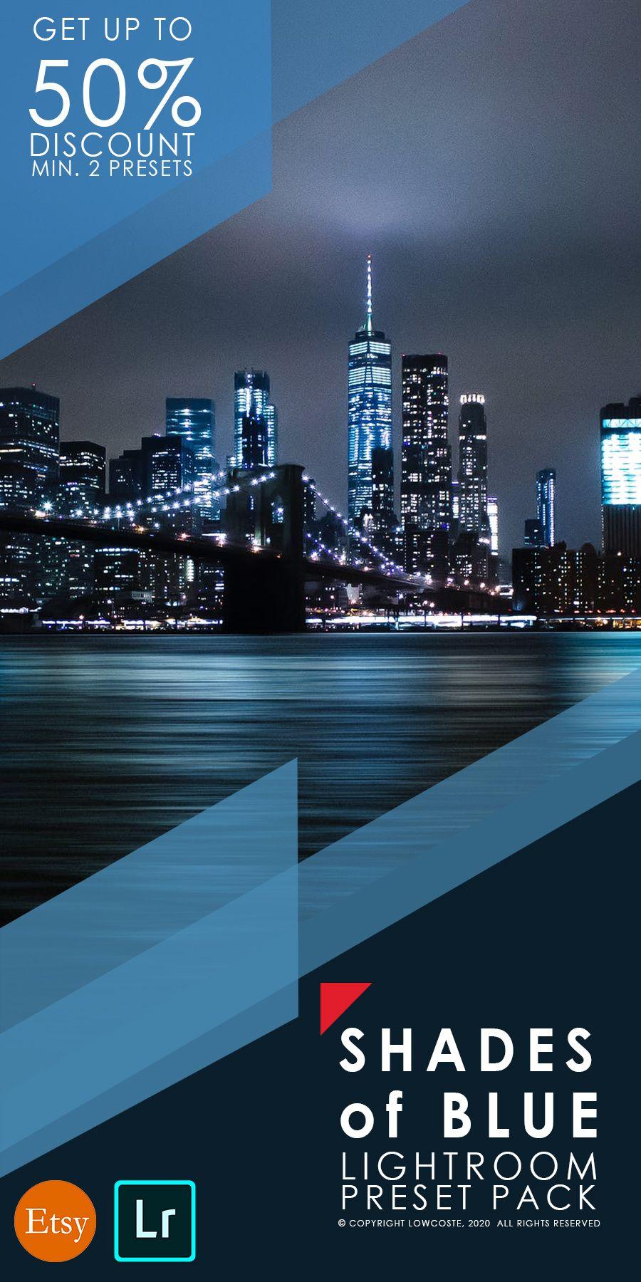 City Lights Presets Mobile Lightroom Preset Night Presets Mobile Preset Bundle Blue Cold Preset In 2020 Lightroom Presets City Lights Lightroom