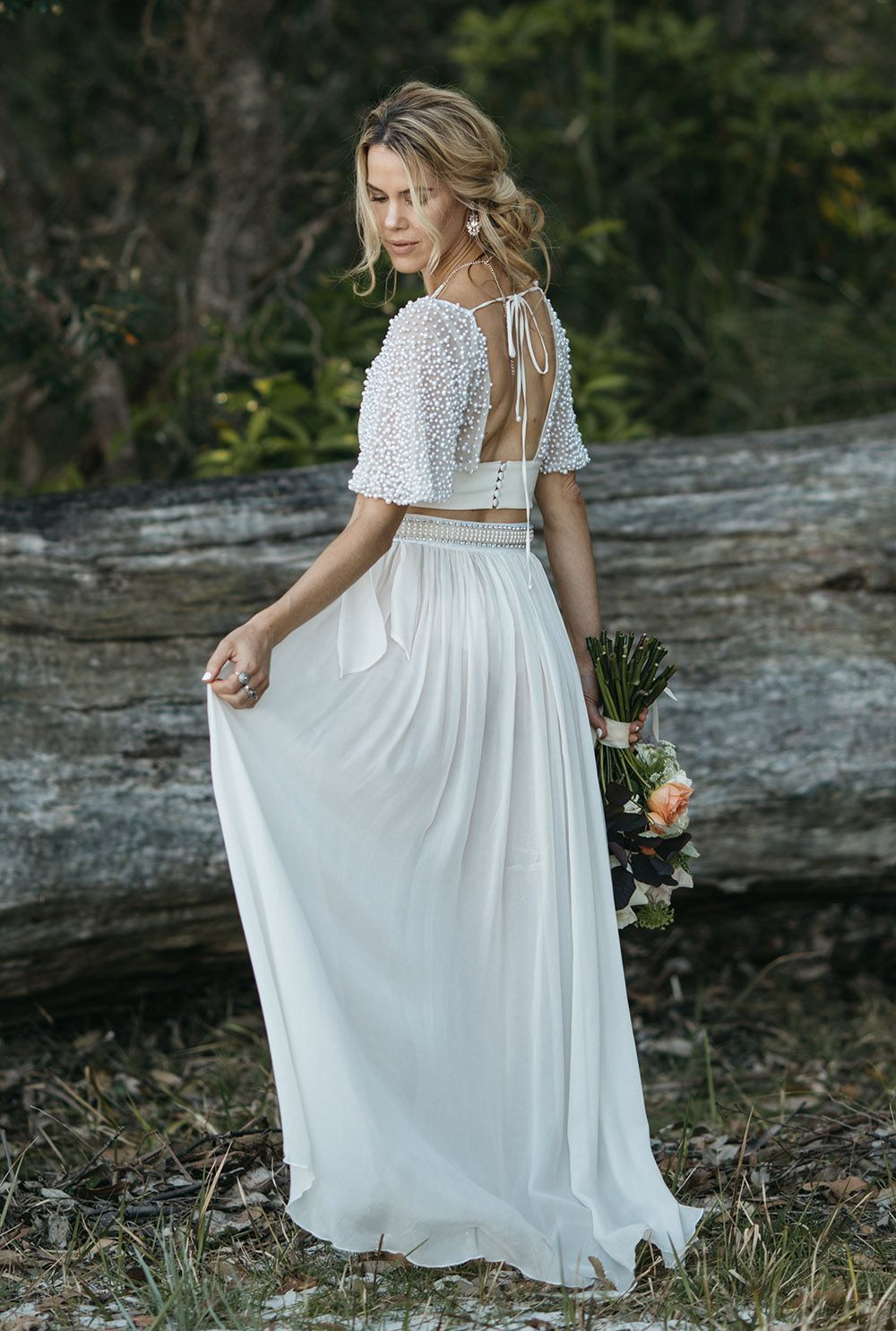 Modern wedding dresses for romantic, boho and beach weddings made ...