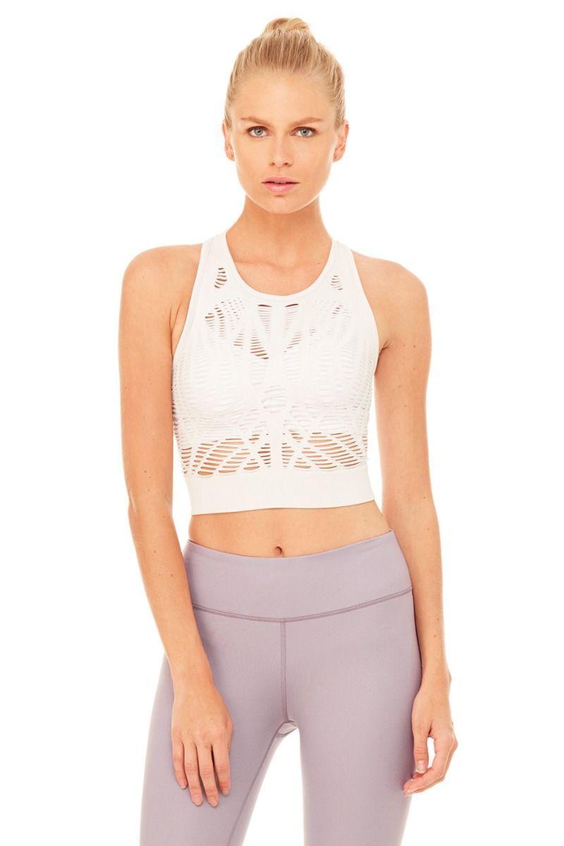 7c558628ec2 Vixen Fitted Crop Tank | Women's Yoga Tops at ALO Yoga ...