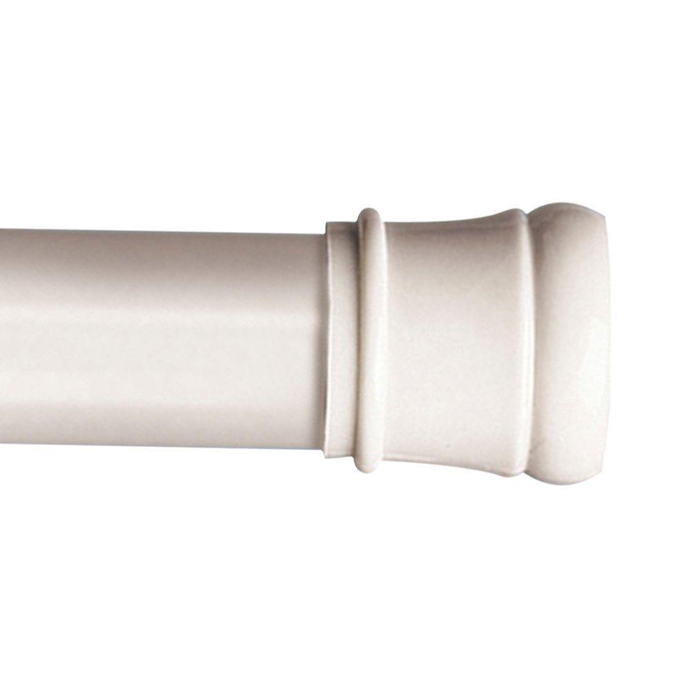 Zenna Home 43 In To 72 In Shower Rod In White Shower Rod