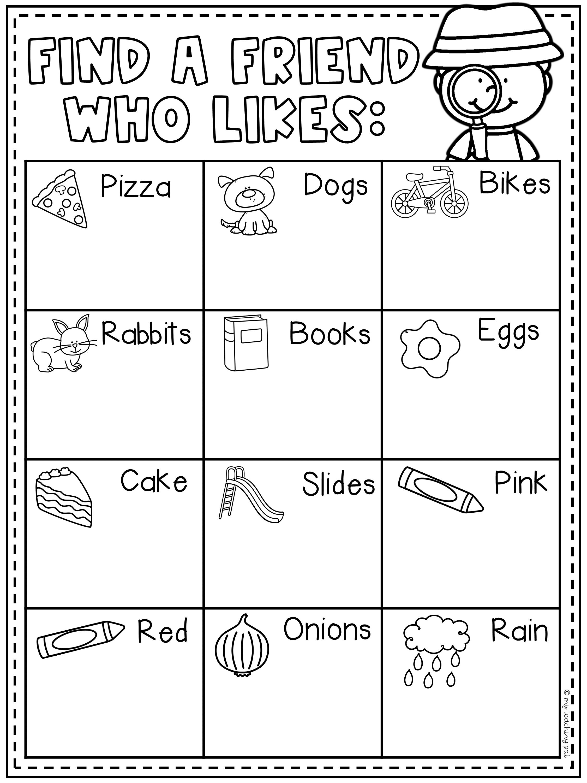 medium resolution of First Grade Back to School Booklet   First grade activities