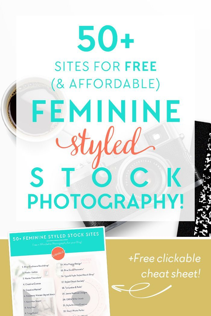50 sites for free feminine styled stock photography