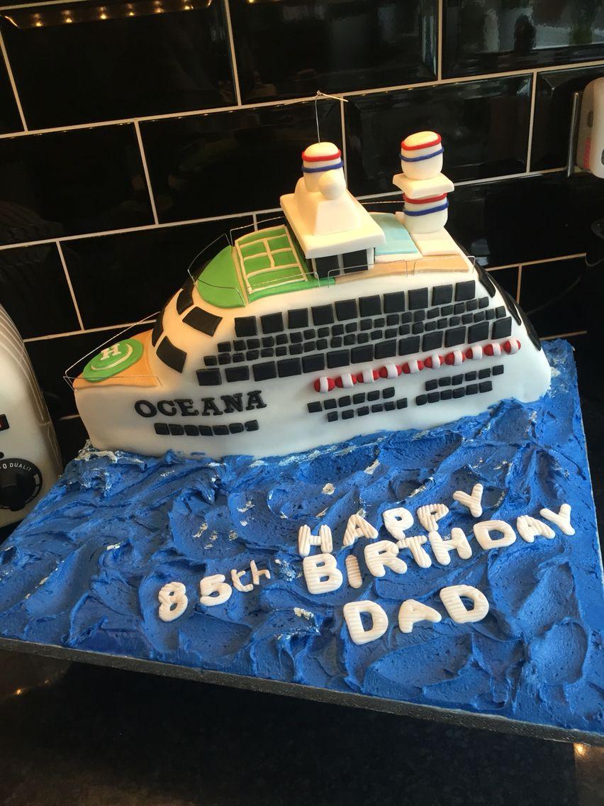 Cruise ship birthday cake CAKES Pinterest Cruise ships