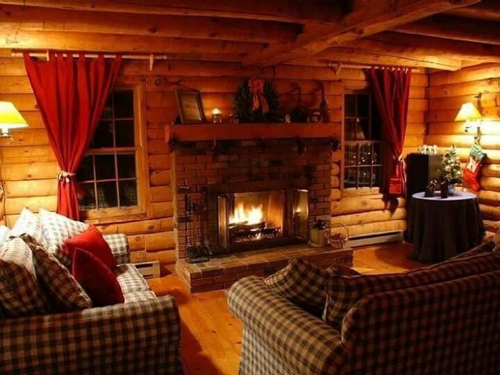 Cozy Log Home Interior Cabin Living Room Cabin Interior Design