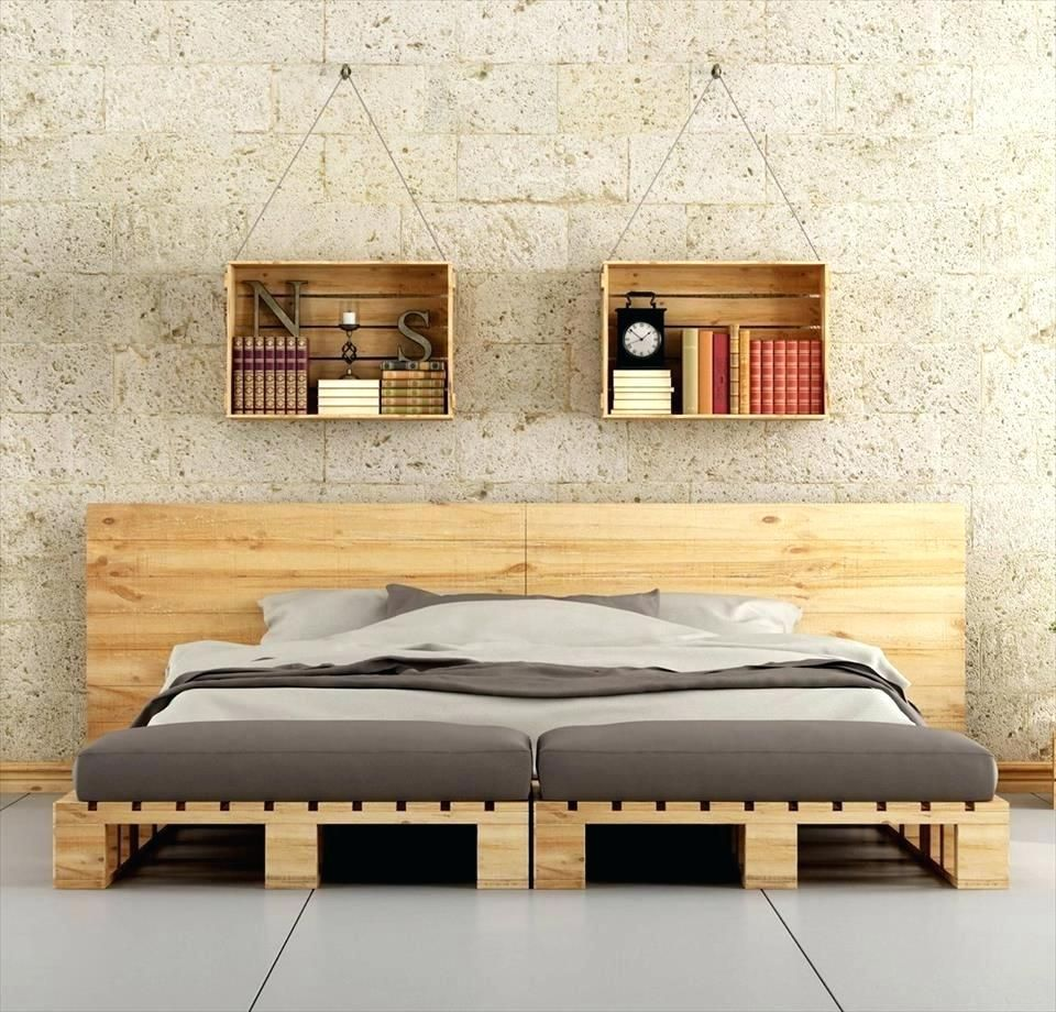 Wood Pallet Bed Frame Instructions Diy Queen With Lights Wood