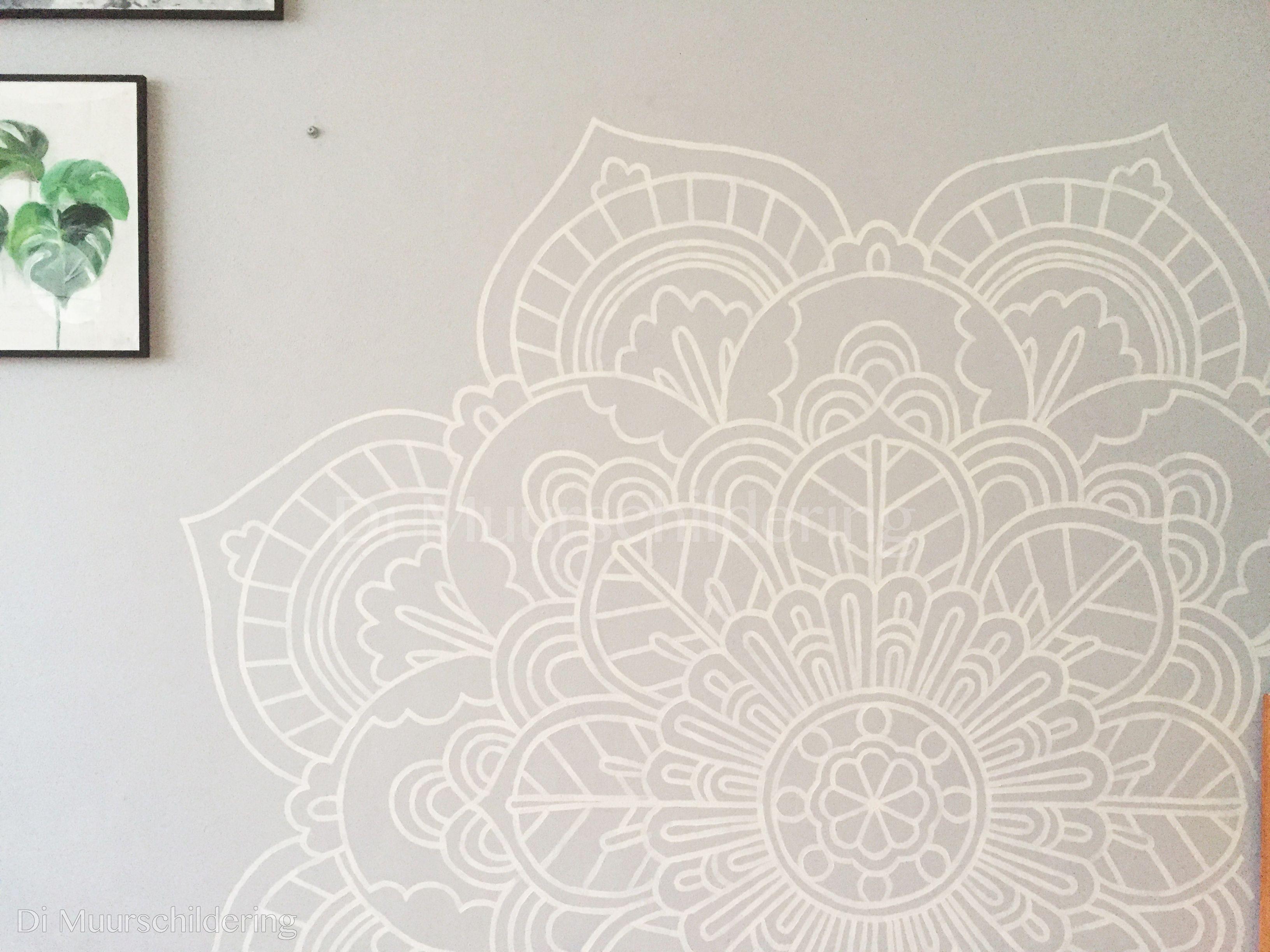 Muurschildering mandala. Gerealiseerd door Di muurschilderingen ...