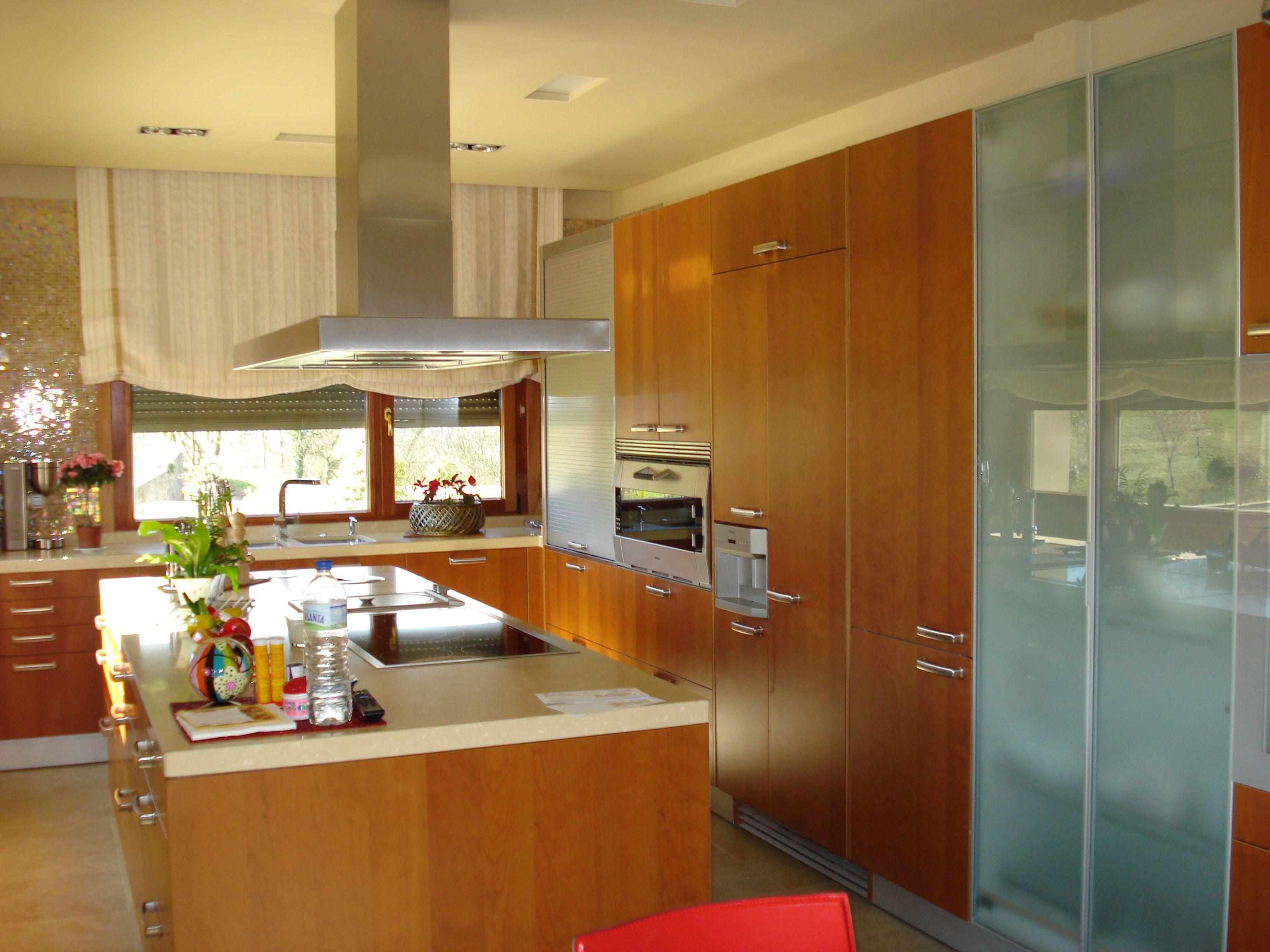 Cocina Santos Modelo Marina Acabado Cerezo Todo Un Lujo Con  # Muebles Cocinas Soinco