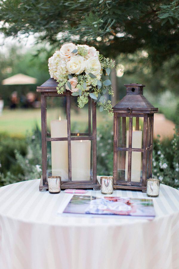 lantern wedding decor, photo by Pinkerton Photography http ...