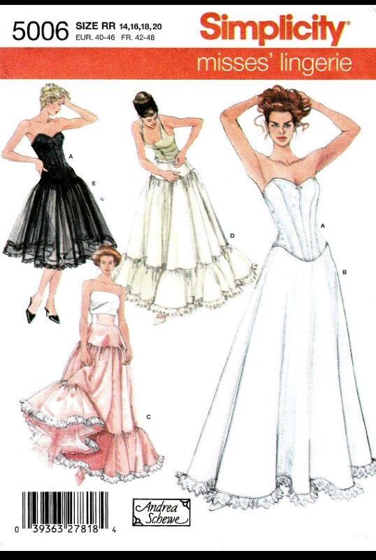 Simplicity 5006: Petticoat pattern | Crinoline, Hoopskirt, and ...
