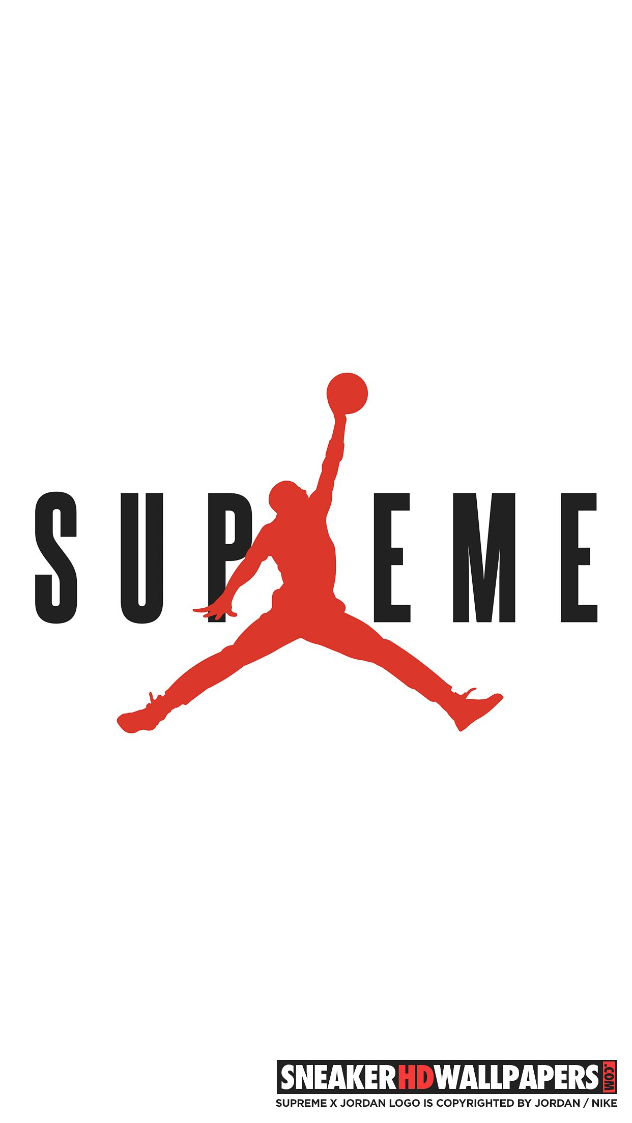 Wallpaper iphone jordan - Supreme X Jordan Mobile Wallpaper Jpg 1242 2208