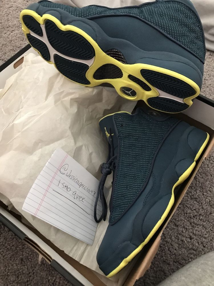 95cd4cd5c2d5 Air Jordan 13 Retro Size 6Y (SQUADRON BLUE  ELECTRIC YELLOW- blk)  fashion   clothing  shoes  accessories  mensshoes  athleticshoes (ebay link)