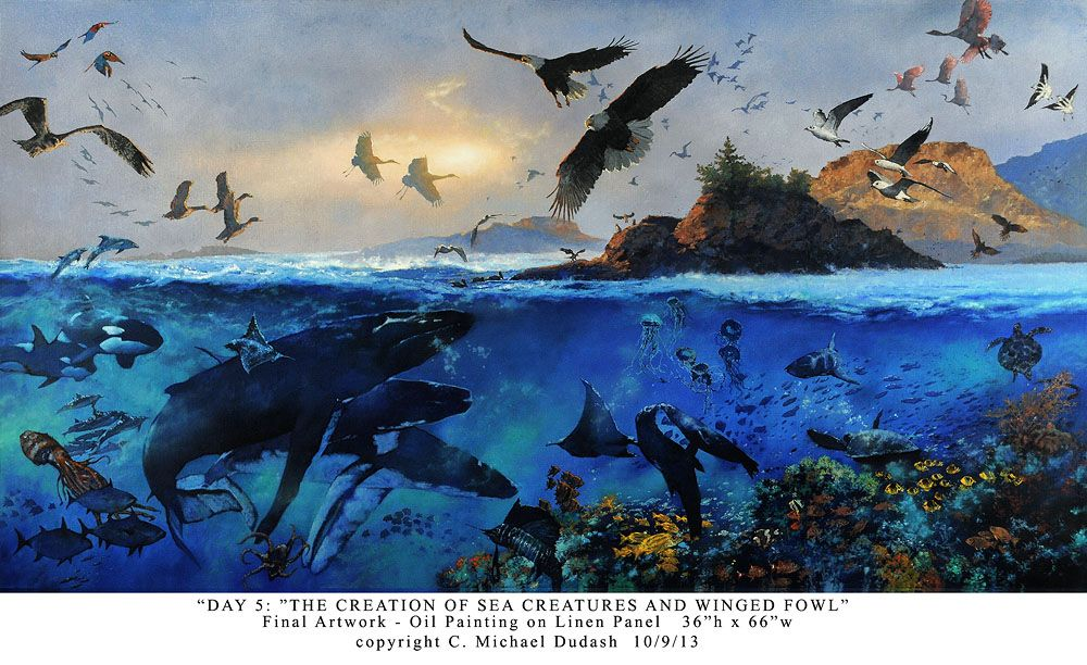 Genesis 120 23 Day 5 God Created Birds And Fish Bible