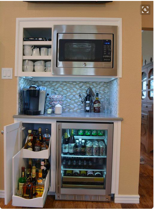 Add Ice Maker Next To Wine Fridge Coffee Center On Top Of Counter