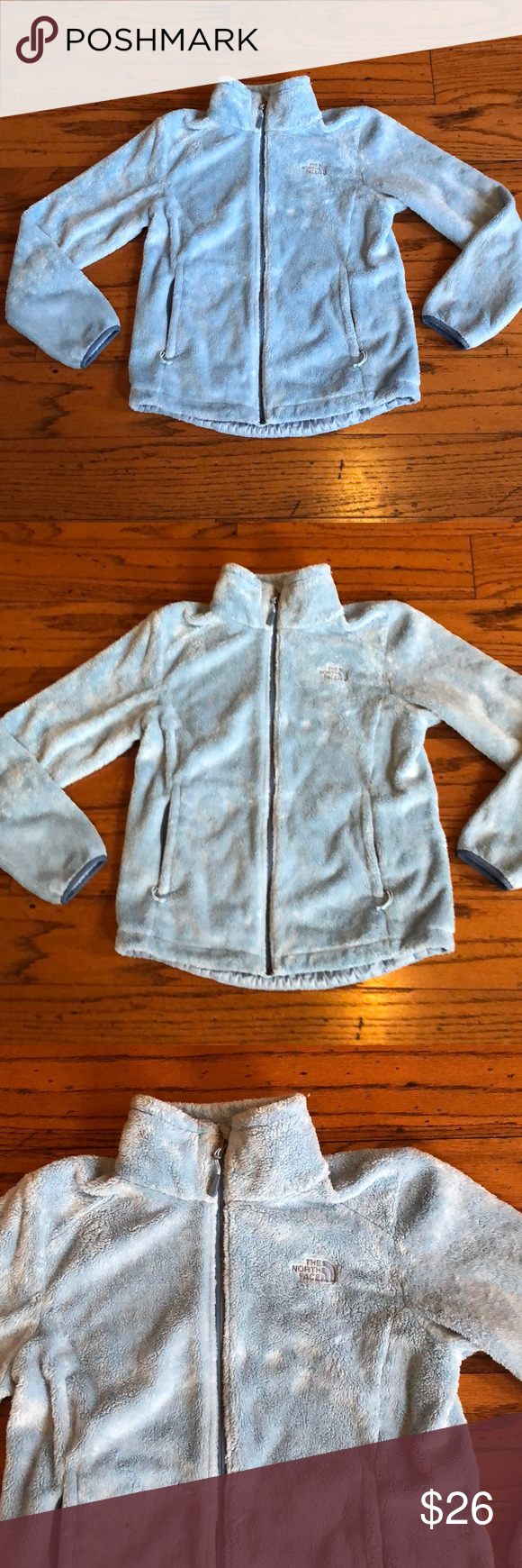 The North Face Baby Blue Osito Fuzzy Jacket Sz M Fuzzy Jacket The North Face North Face Jacket [ 1740 x 580 Pixel ]