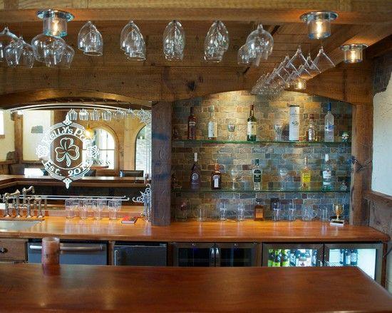 Eclectic Basement Design  Home Sweet Home  Home pub Pub