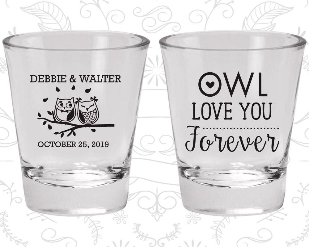 Shot Glass, Personalized Shot Glasses, Shot Glasses, Wedding Shot ...