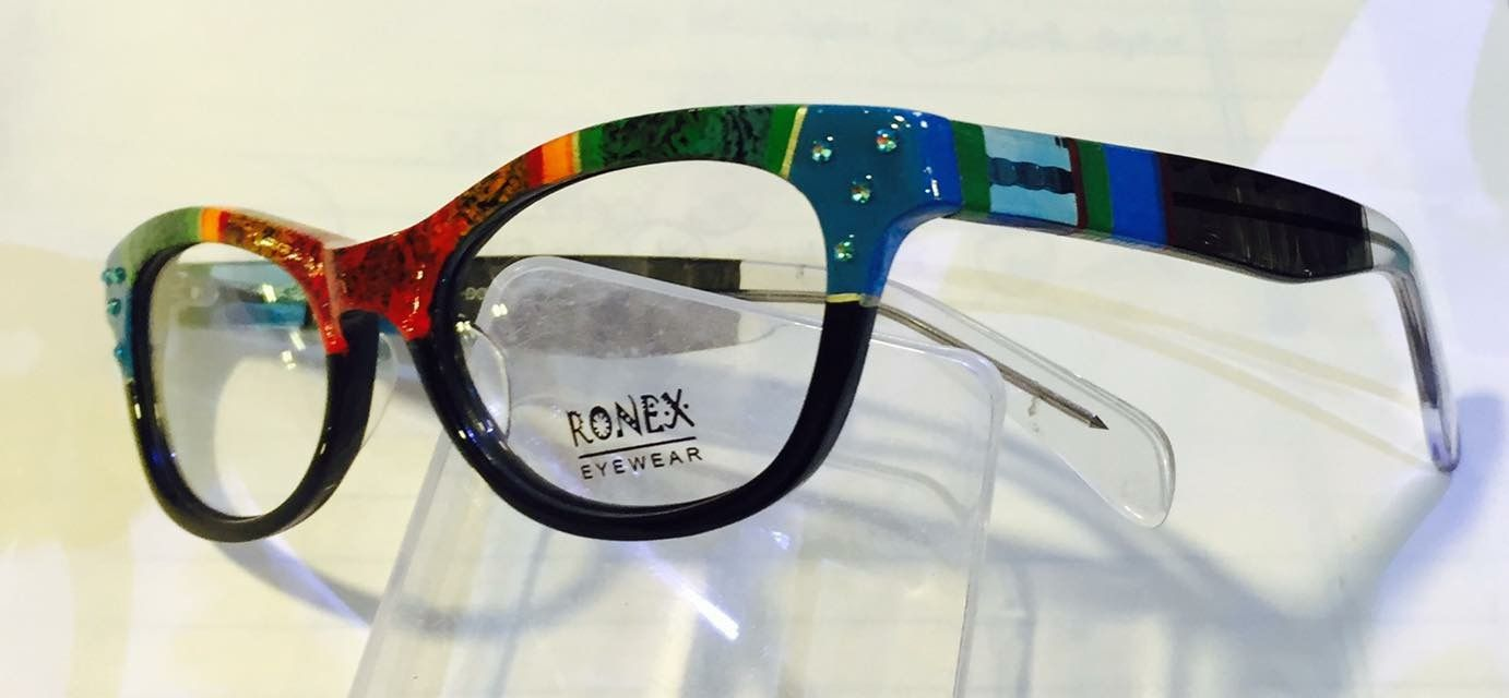 16b3c2abbc5 New Ronex colorful eyeglasses frames inspired by - Frida Khalo - Hand  painted by Roni Dori.