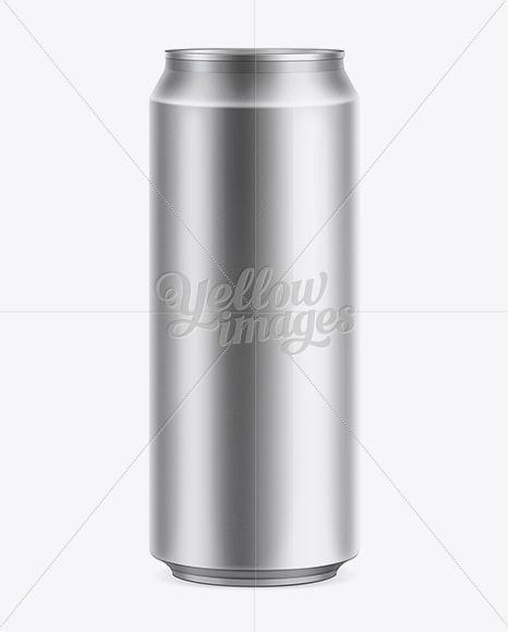 Beer Can 500ml Mockup
