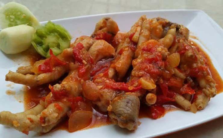 Resep Ceker Ayam Saos Padang Resep Di 2020 Resep Makanan Ayam
