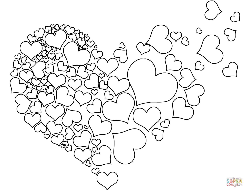 Ausmalbild: Torn Heart  Ausmalbilder kostenlos zum ausdrucken
