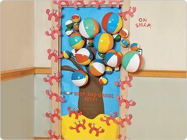 Summer Classroom Decorations Ideas : Summer tree door decoration classroom decorating ideas