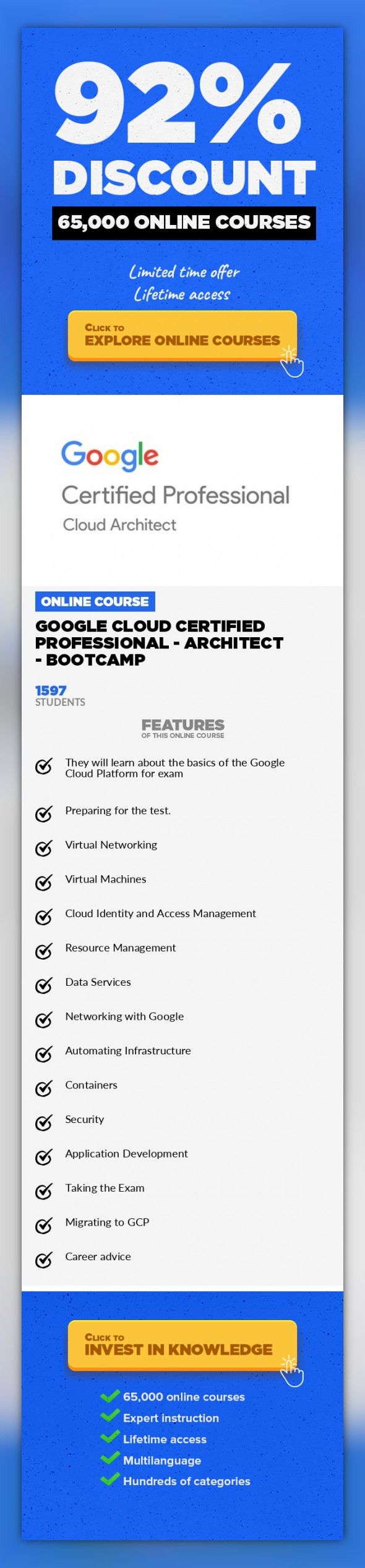 Google Cloud Certified Professional Architect Bootcamp It