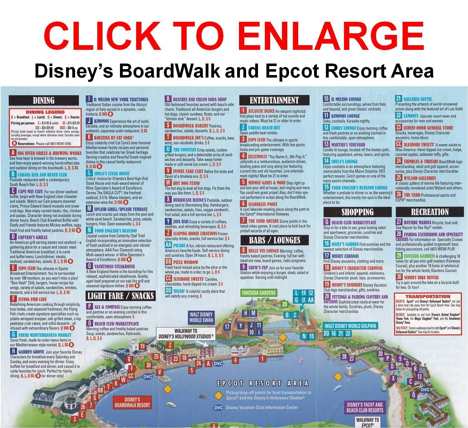 Pinterest Disney Boardwalk Map on
