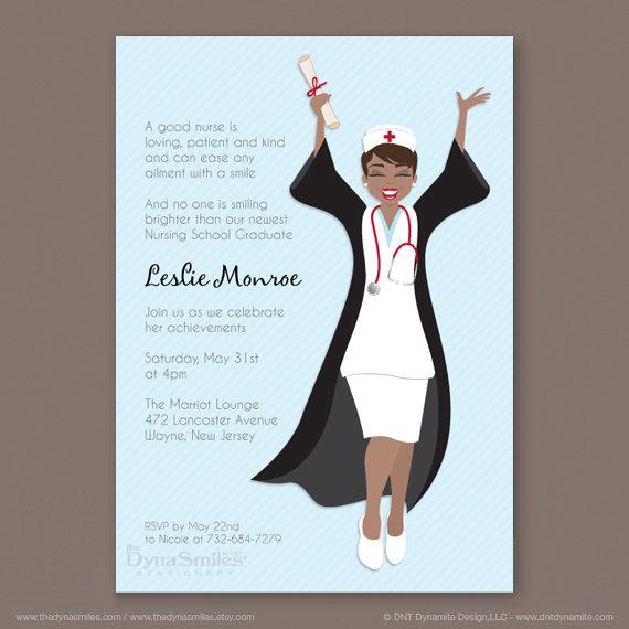 Newest Nurse Graduation Party Invitation on Etsy 2000 Nursing