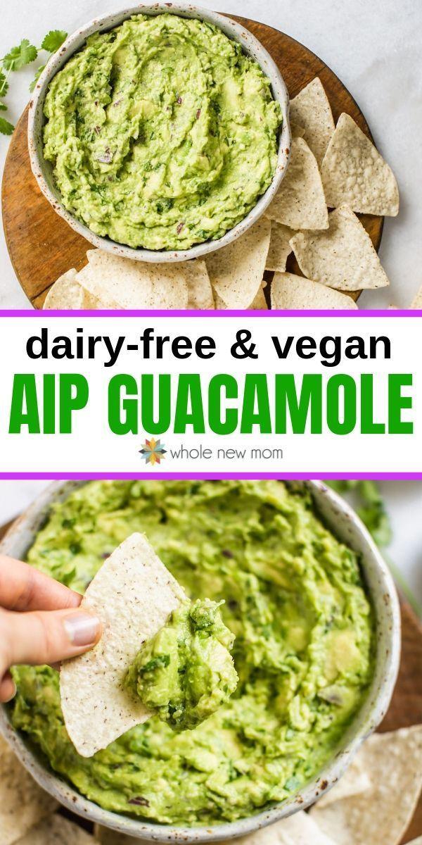 Autoimmune Paleo (AIP) Guacamole - dairy-free & vegan