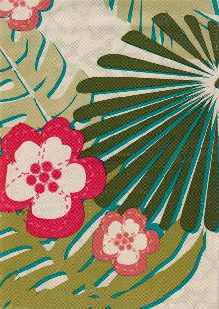 Floral Vinyl Tablecloth