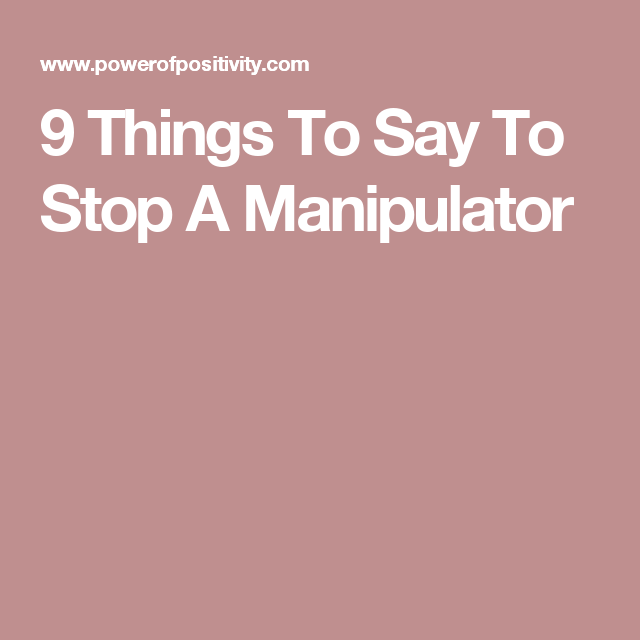 how to stop a manipulator
