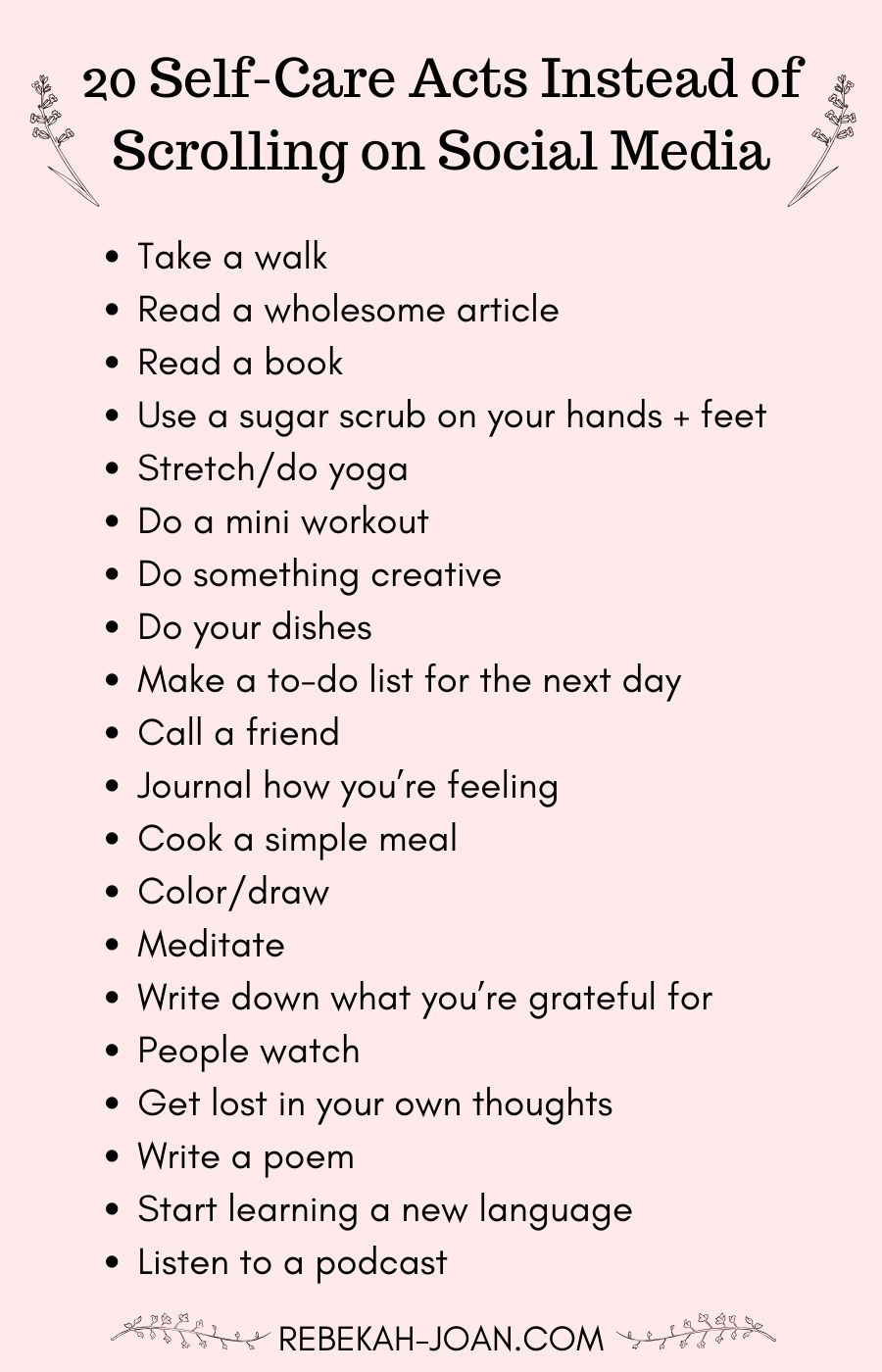 Photo of 23 Self-Care Activities to Replace Scrolling on Social Media — Rebekah Joan