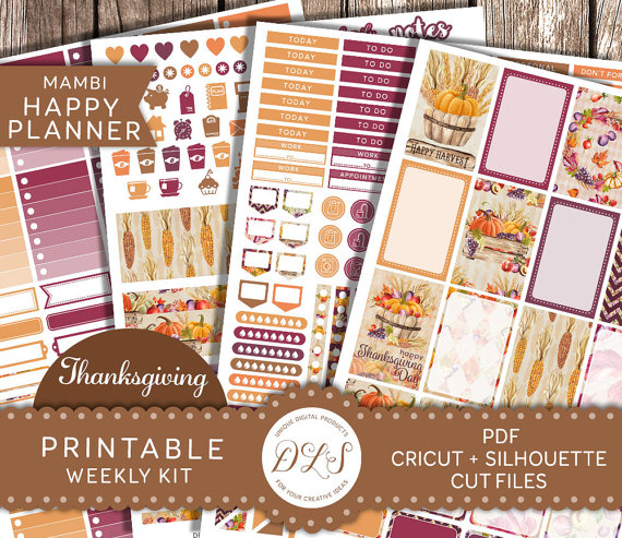 28aa663944e0 Thanksgiving HAPPY PLANNER
