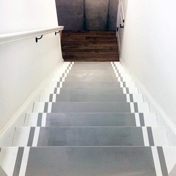 Painted Basement Stairs Ideas: Top 70 Best Painted Stairs Ideas