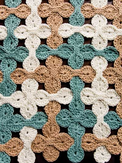 Woven Shell Table Runner   Häkelmuster / crochet pattern ...