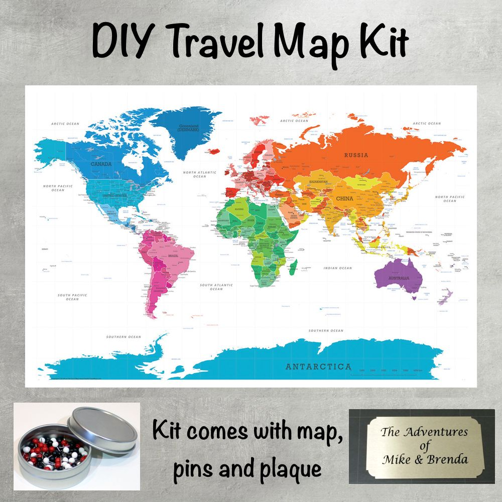Diy colorful world push pin travel map kit travel maps diy colorful world push pin travel map kit gumiabroncs Choice Image