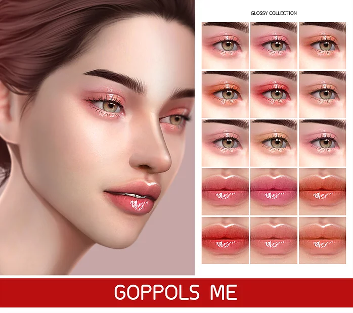 Gpme Kpop Style Set The Sims 4 Skin Sims 4 Cc Makeup Sims 4 Asian Makeup