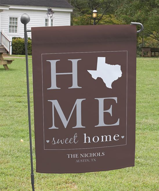Brown Home Sweet Home Personalized Garden Flag Products Yard