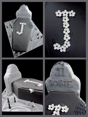 http://inspiredbymichelleblog.com/2010/09/24/21st-birthday-cake-halloween-coffin-and-headstone-idea/