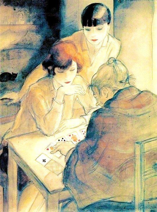 The Fortune Teller 1928 By Jeanne Mammen Malerei Kunst Neue Sachlichkeit