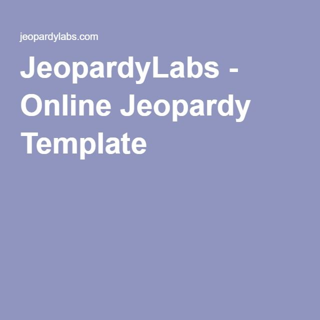 jeopardylabs - online jeopardy template | computer class, Powerpoint templates