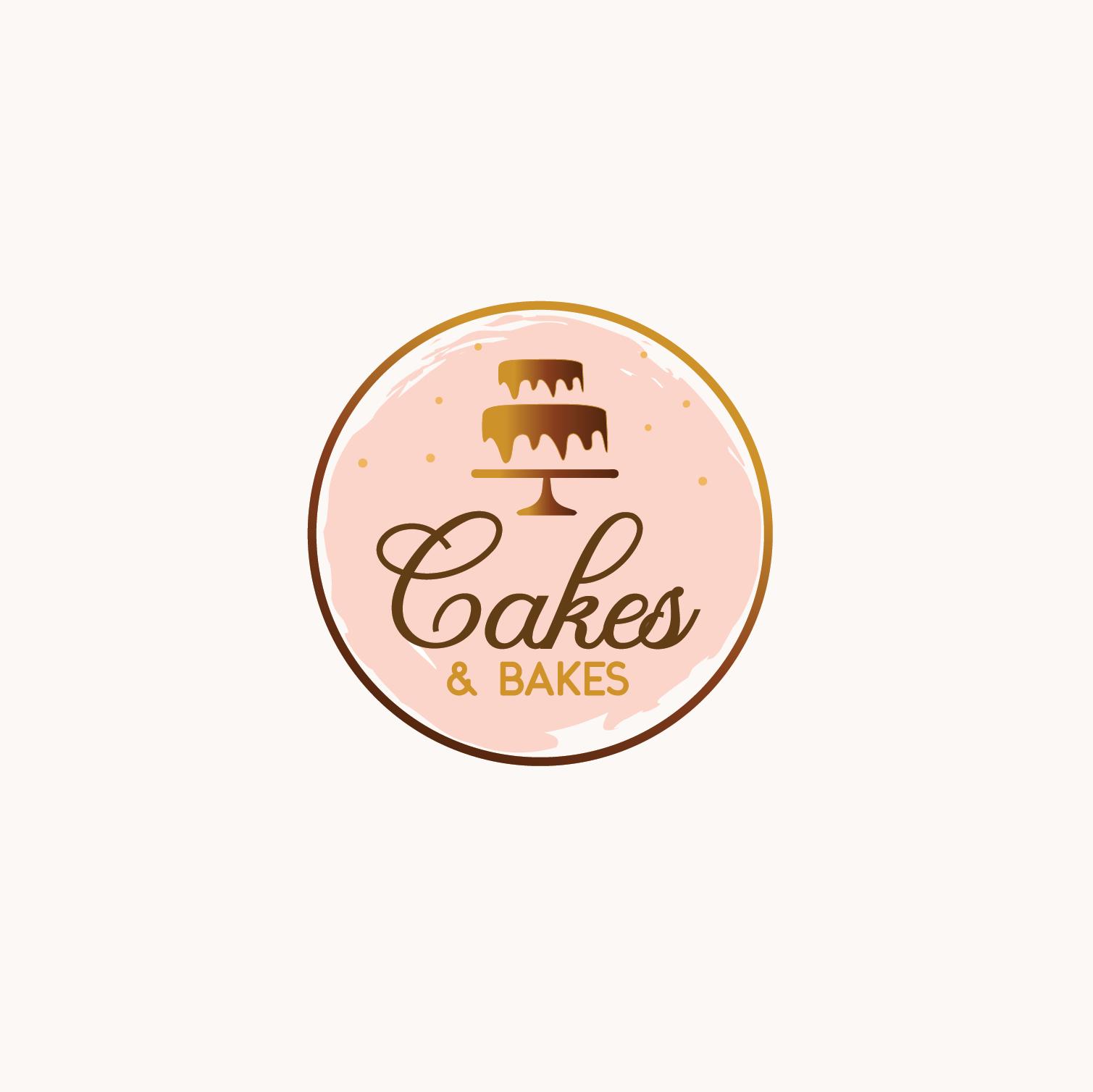 logo concept modern cake logo design Cakes&Bakes  Ananta Creative  Cake logo design, Cupcake logo