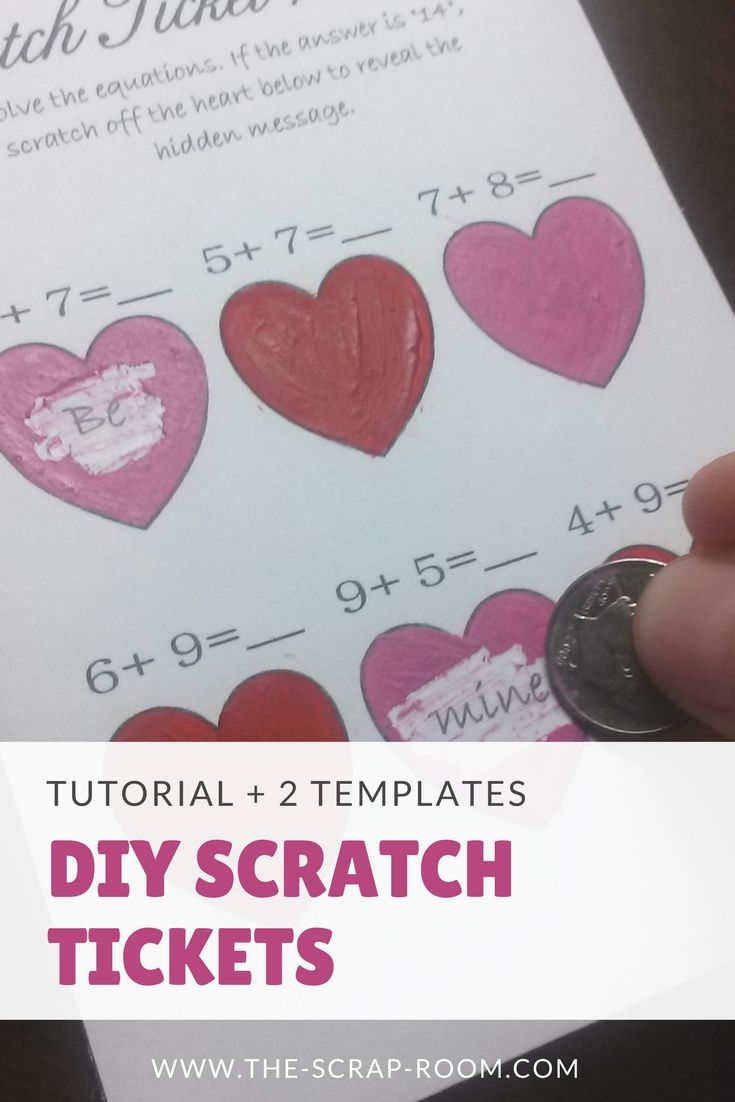 Tutorial to make your own DIY Scratch Tickets, includes TWO FREE ...