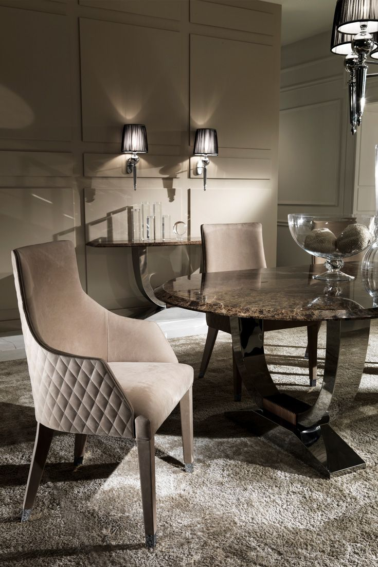 The Oval High End Marble Italian Dining Table Set At Juliettes Interiors Is Perfect For